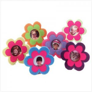#33118 Plush Flower 3x3 Photo Frames