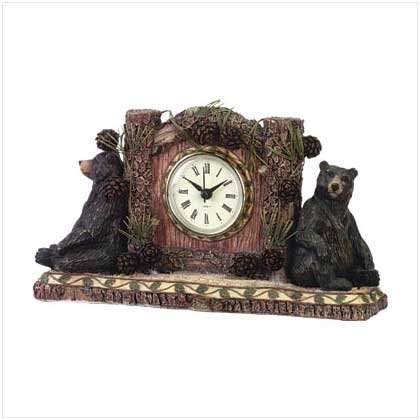 #34614 Woodsy Bear Desk Clock