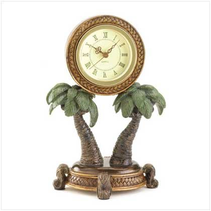 #36005 Palm Tree Clock