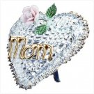 #32460 Glass Mom Heart and Flower
