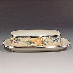 Mikasa Garden Harvest Covered Butter Dish