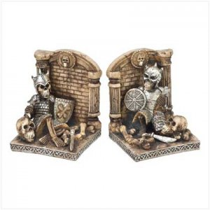 Pirate skull knight sword goth bookends medieval new - Gothic bookends ...