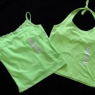 2 PC Green Dog Green Summer Tops XL 16 New