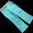 Green Dog Turquoise Blue Capri Pant 16 New
