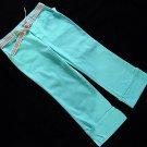 Green Dog Turquoise Blue Capri Pant 16 New