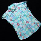 Caribbean Joe Blue Tropical Shirt XL 16 New
