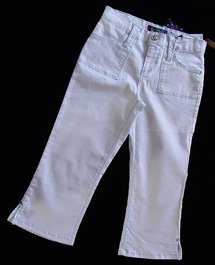Jolt White Capris Jeans 16 New