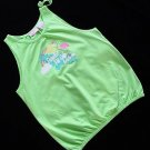 Green Dog Green Hibiscus Top XL 16 New