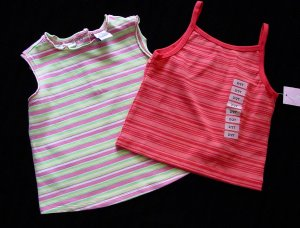 Lot 2 Summer Tops 24 M and 2T New