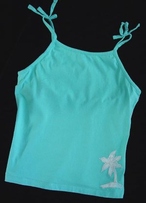 Green Dog Turquoise Caribbean Top XL 16 New
