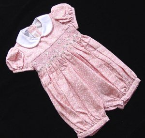 Boutique Anavini Coral Pink Romper Bubble 18 M 18M New NWT