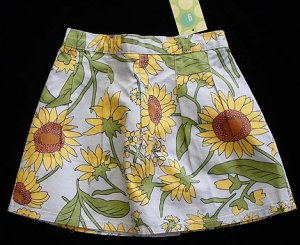 Gymboree Sunflower Skort 3 New