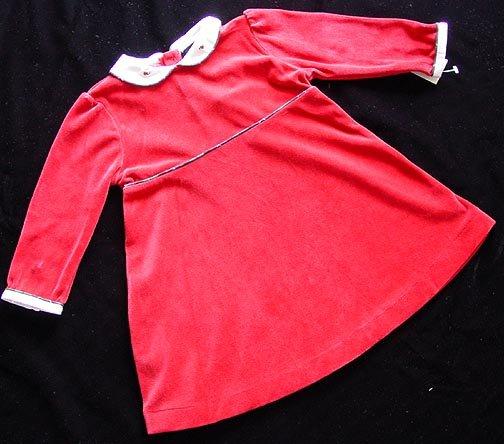 Ralph Lauren Velour Red Dress 18M