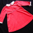 Ralph Lauren Velour Red Dress 18M