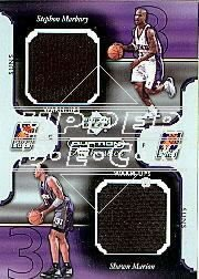 [S.Marbury/S.Marion] 2002-03 Upper Deck Ovation Authentics Warm-Ups Dual (GU Shorts) Free S&H!