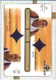 [S.Marion/S.Marbury] 2003-04 Upper Deck MVP Combo Materials (GU Jersey) Free S&H!