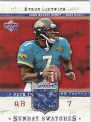 [Byron Leftwich] 2005 Upper Deck Rookie Debut Sunday Swatches (GU Jersey) Free S&H!