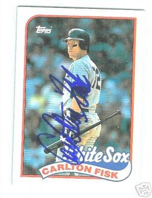 Carlton Fisk Autographed Topps Baseball Card w/ C.O.A