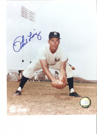 Phil Linz ('62 NY Yankee World Series Champion ) Autographed 8x10 W/ C.O.A.