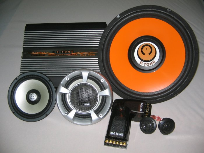 Car Audio Component Set (Price quoted in Malaysia Ringgit)