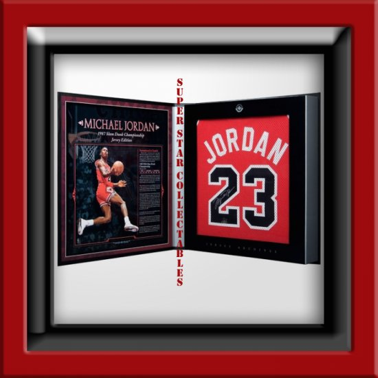 Michael Jordan Autographed Jersey Limited Edition Box