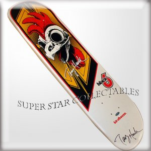 Tony Hawk Autographed Rooster Skateboard