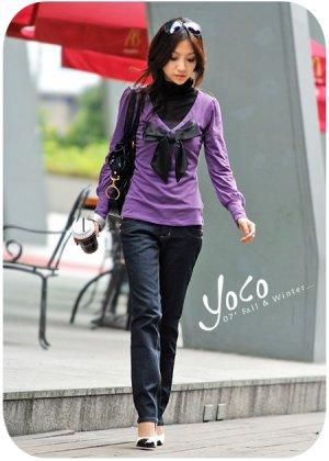 cutey purple sweater one size