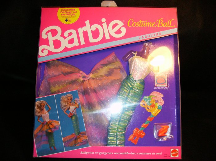 BARBIE COSTUME BALL FASHIONS BALLROOM GOWN OR MERMAID COSTUME NRFB