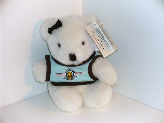 Bialosky White Gund Teddy Bear 1982-1984