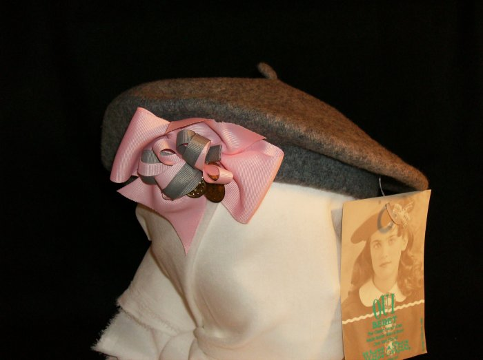 Gray Wool Beret
