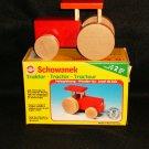 Schowanek Red Wooden Tractor West Germany