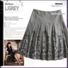 Grey pleated skirt - S size