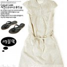 Japan-minimal cream-coloured dress - M size