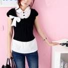 T31-Black cropped top
