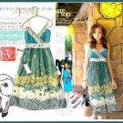 Ocean green sun dress