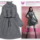 D23-Woolen frock - Dark grey