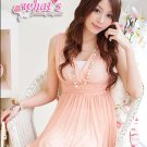 D14-Goddess chiffon dress with hem details - pink