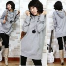 T24-3-buttons hooded pullover