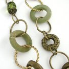 Green/bronze necklace