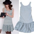 D11-Smart street dress - Light grey