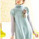 T18-Winter knitted woolen cap-sleeve pullover - blue
