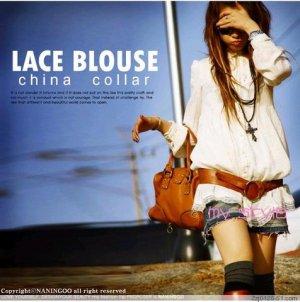 T15-Spring Long Blouse - White