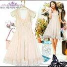 D8-Princess Chiffon pale-pink dress with inner slip