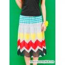 Multi-coloured cheerful skirt