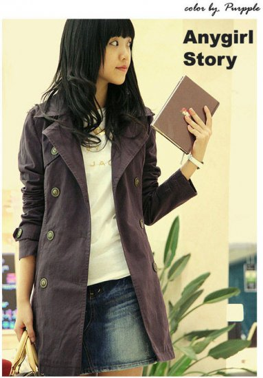 Sassy trench-coat - Purple