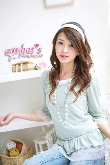 T1-Sweet blouse - light blue