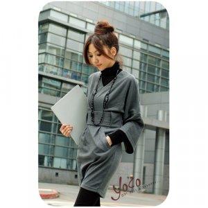 D3-Kimono cut dress - grey