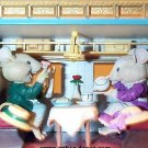 """Enesco animated illuminated music boxes mouse mice """"let me call you sweetheart"""""""
