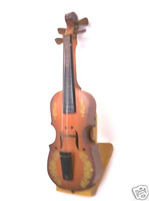 "Enesco antique miniature instrument musical violin plays ""Brahms Waltz"""