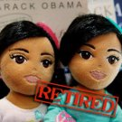 Original Authentic Ty Obama girls girlz retired Sasha Malia Dolls